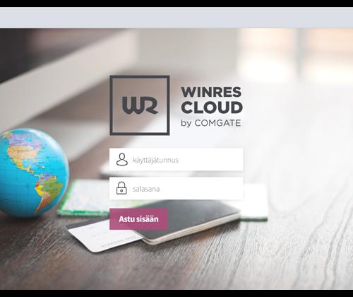 Winres Cloud -sisäänkirjautuminen